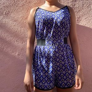 Patterned romper